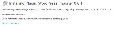 WordPressImporterUnableToCreateDirectory